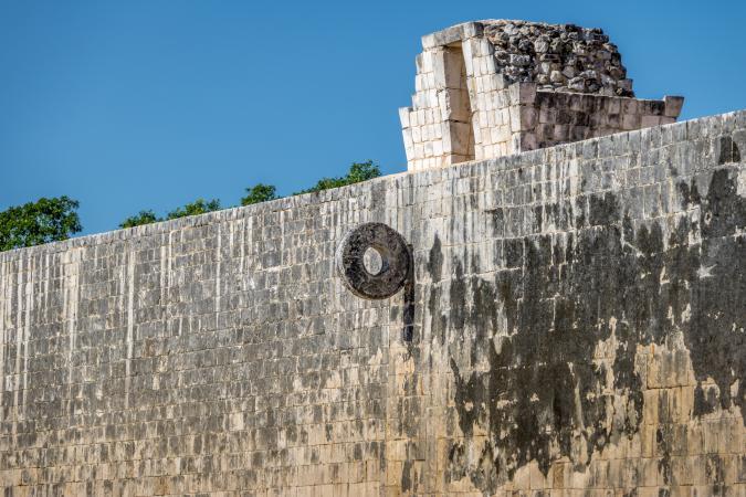 Mayan ball game court Chichen Itza