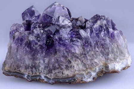 Amethyst crystal plate