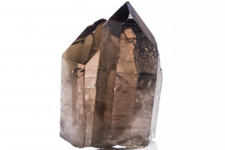 Smoky quartz on qhite background