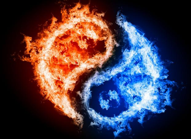 Fire and water yin yang