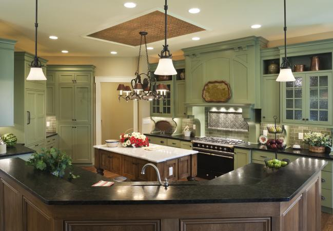 Country style custom kitchen