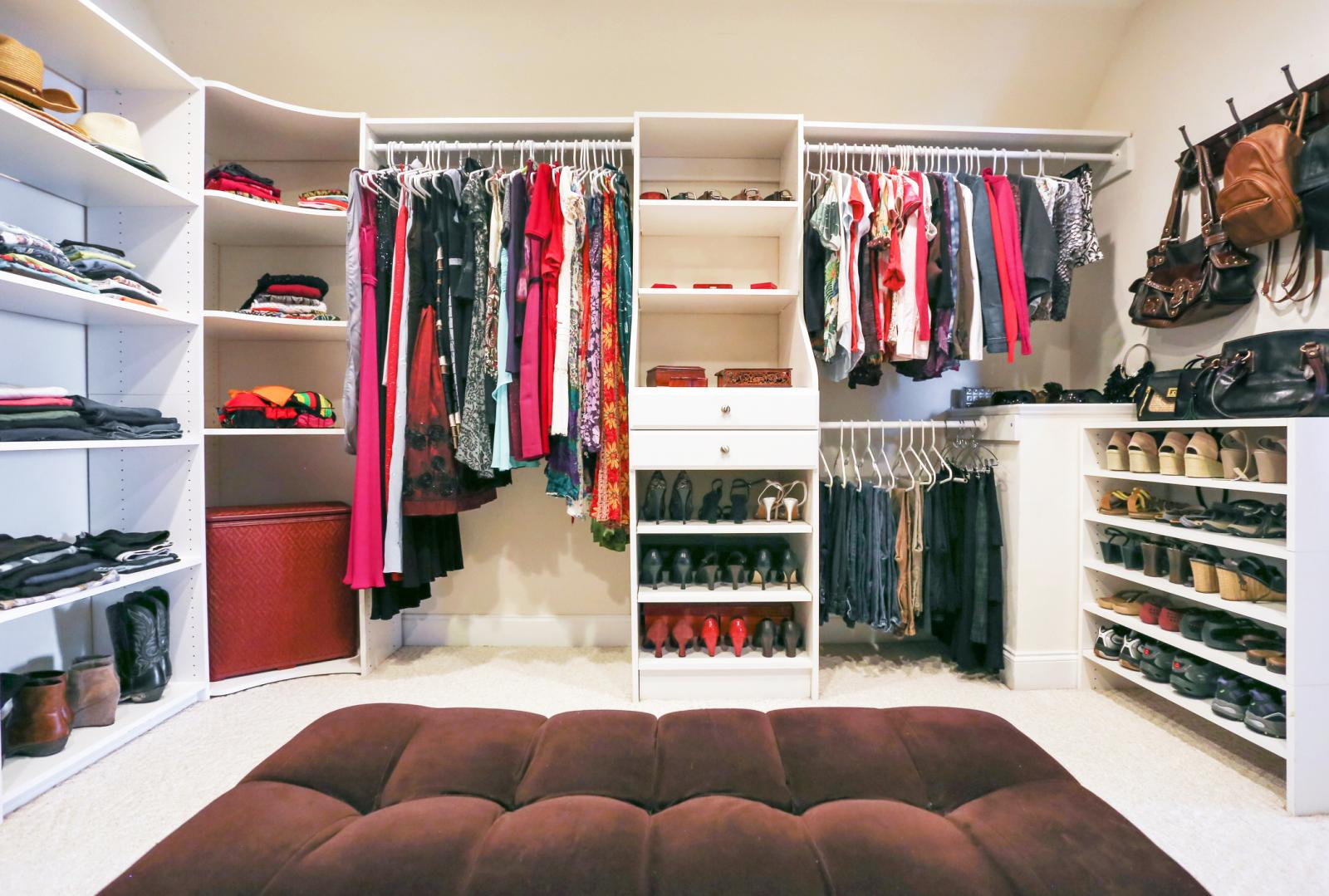 Fully organised closet