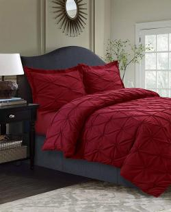 luxury red bedding
