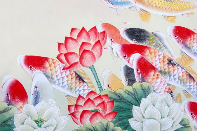 Koi Fish Feng Shui Artwork