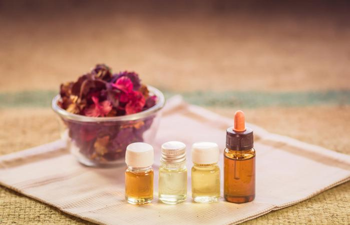 Essential oils and floral petals