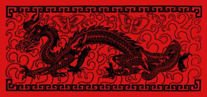 red dragon banner
