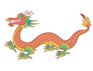 Red Chinese Dragon Clip Art