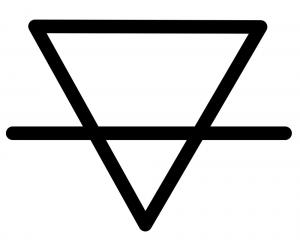 triangle earth sign