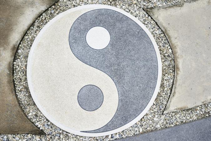 Yin yang paver