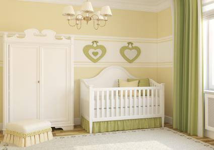 pale green and yellow nursery
