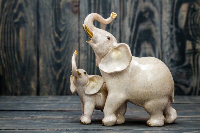 Elephant and baby figure
