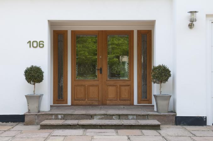 House number 106 front door