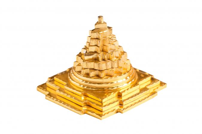 Golden pyramid used in Vastu
