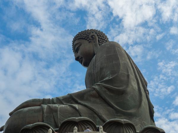 Buddha in a Hong Kong monastery