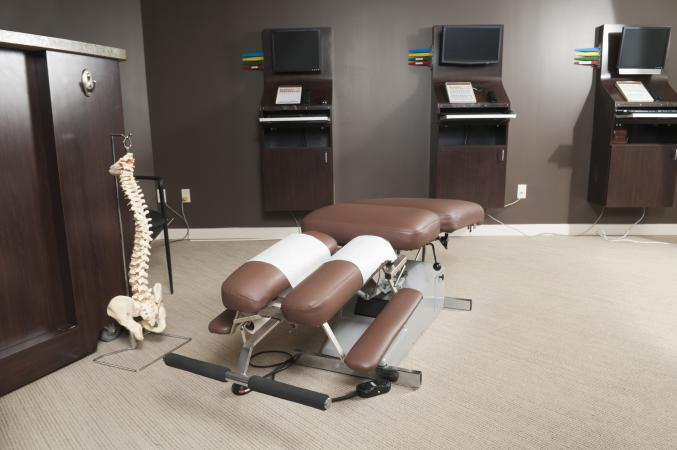 A tidy chiropractic office