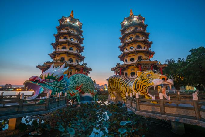 Dragon and tiger pagodas in Taiwan