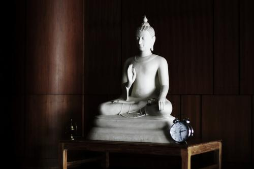 Living room Buddha statue