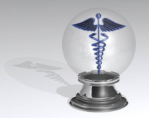 Caduceus in a crystal ball