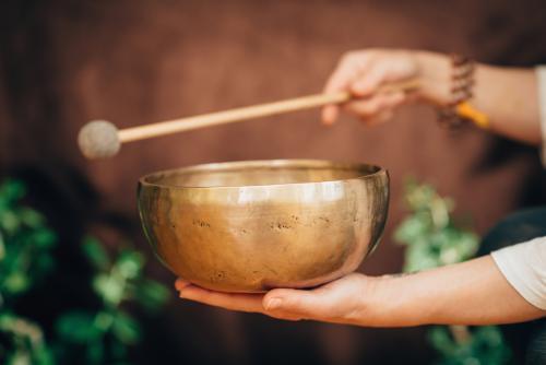 bronze Himalayan singing bowl