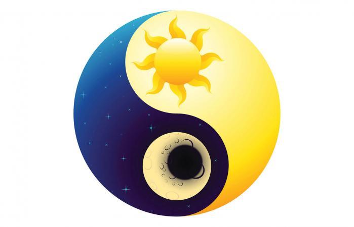 Yin Yang Sun and Moon