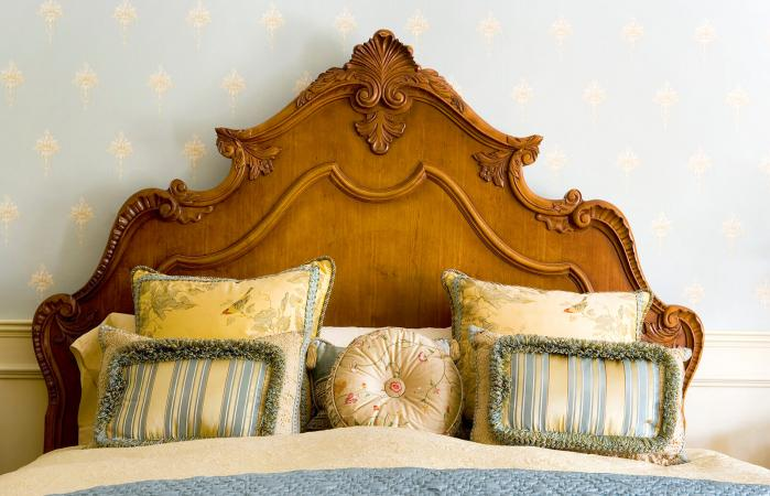 Ornate Headboard on Elegant Bed