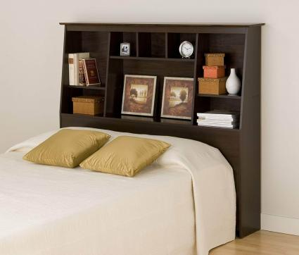 Tall Slant-Back Bookcase Headboard