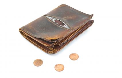 Old Wallet With Coins