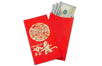 Red Lucky Chinese Money Envelopes