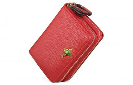 Multi Card Case Wallet Genuine Leather