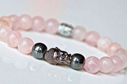 Love and Relationship Rose Quartz Buddha Bracelet