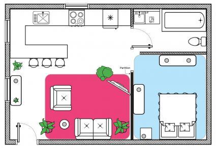 feng shui stuido apartment