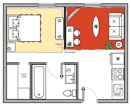 feng shui studio apartment small