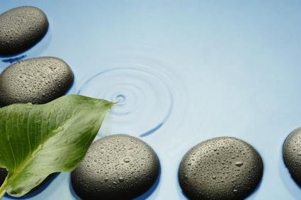 Serene Zen water stones