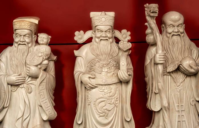 Three Chinese lucky Gods