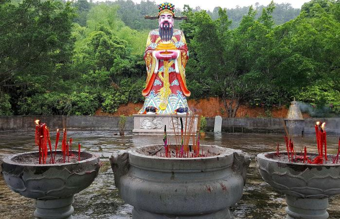 Caishen Statue At Temple