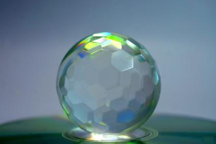 Crystal Ball On Blurred Background