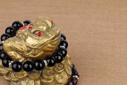 Beads jewelry and money frog
