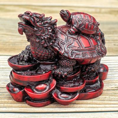 Dragon turtle Buddhist figurine