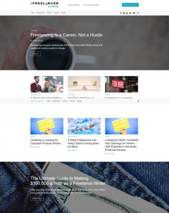 Screenshot of Contently.net