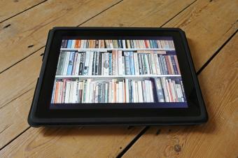 digital books on a tablet