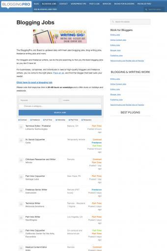 Bloggingpro website