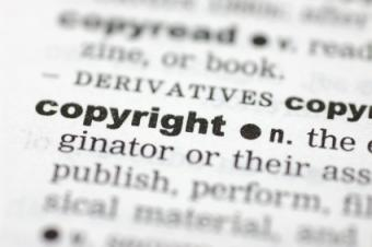 Dictionary page with the definition of copyright