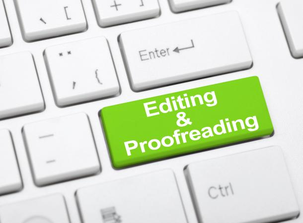 editing and proofreading button