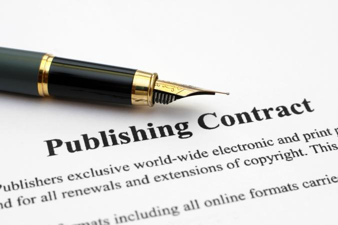 fountain pen on a publishing contract