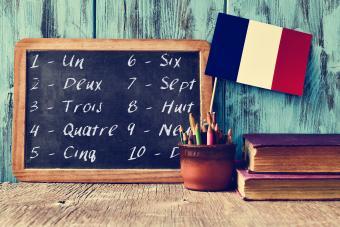 Printable French Numbers Worksheet