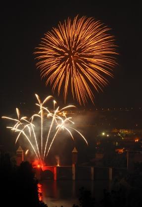 Fireworks on Bastille Day in France