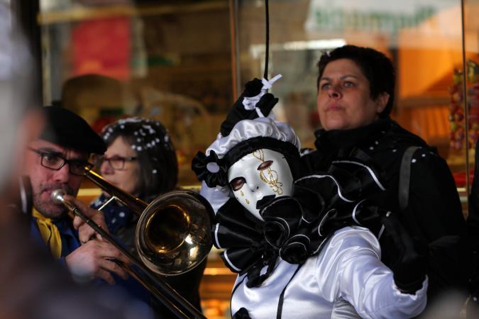 Limoux, France clown