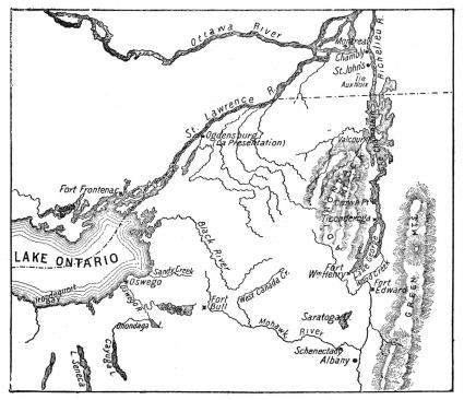 Antique Map of St. Lawrence Area