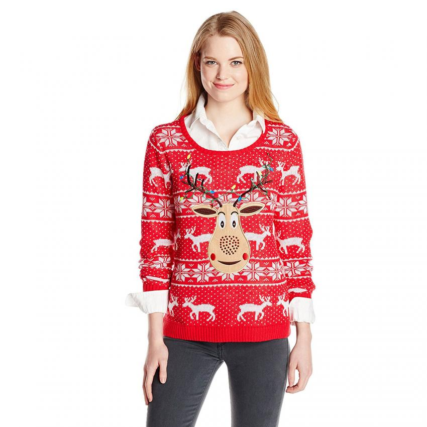 did a glitter bomb go off - Classic Christmas Sweaters