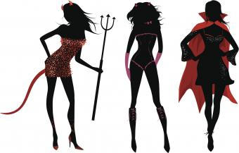 Halloween party silhouettes